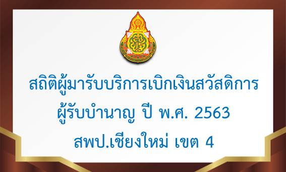 สถิติผู้มารับบริการของผู้รับบำนาญปี พ.ศ. 2563